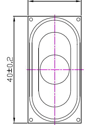 20mm X 40mm Rectangle Mini Speaker, 2.0W, 8 Ohms