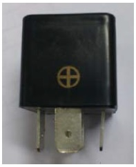 Square Junction Box Buzzer, Constant Tone, Black, 37x24mm, Operates at 24VDC