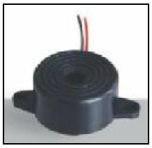 22.5mm Diameter Piezo Indicator, 12VDC, 80dB, 8mA, Self Drive