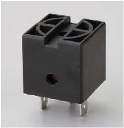 Square Junction Box Buzzer, Continuous Tone, Black, 26x12mm, Operates at 12VDC