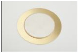 Piezo Element, dia. 20mm, Brass