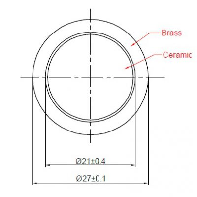 Piezo Element, dia. 27mm, Brass