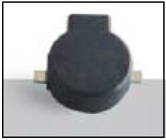 9mm Diameter SMT Electromagnetic Surface Mount Buzzer, 3.6V, 90mA, 87dB, non-self drive