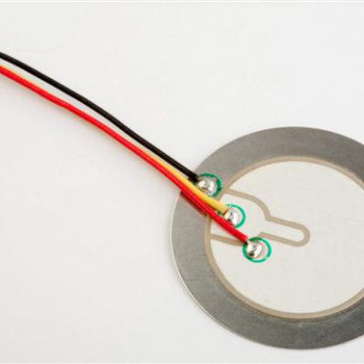 Piezo Element, dia. 34.7mm, Stainless Steel